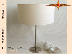 Beige Tischlampe mit Streifen DORA Tischleuchte