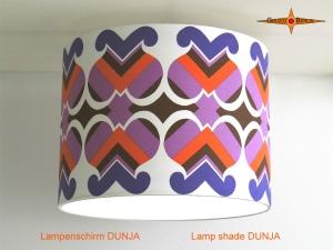 Vintage Lampenschirm DUNJA Ø50 cm Retrodesign Lampenschirm