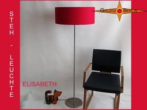 Rote Stehlampe aus Seide ELISABETH Rote Stehleuchte