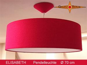Rote Lampe  aus Seide ELISABETH Ø70 cm Hängelampe mit Diffusor