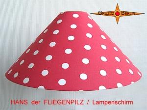 Kinderlampenschirm HANS der FLIEGENPILZ Ø50/10 Lampenschirm mit Punkten