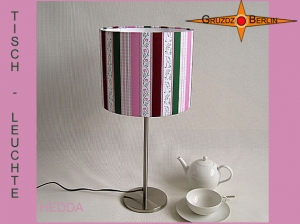 Kleine Tischleuchte HEDDA Tischlampe gestreift