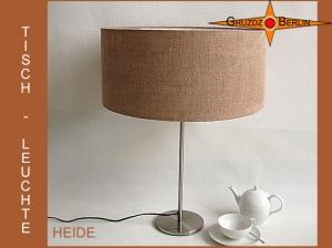 Tischlampe aus Jute HEIDE Tischleuchte naturfarben