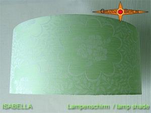 Grüner Lampenschirm aus Damast  ISABELLA Ø45 cm mint grün