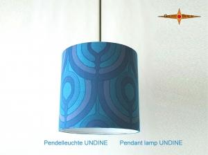 Vintage Lampe UNDINE Ø35 cm Hängelampe im Pantonstil mit Diffusor