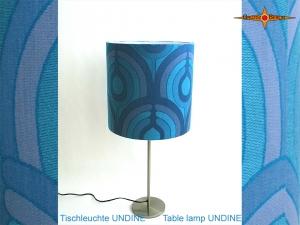 Blaue Vintage Tischlampe UNDINE Tischleuchte im Pantonstil