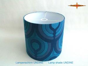 Blauer Vintage Lampenschirm UNDINE Ø35 cm Retrodesign 70er Pantonstil Lampe