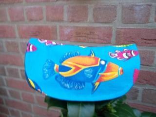 Handgemachtes kleines Universaltäschchen mit Fisch