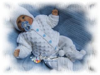 Strickanleitung für Baby's u. Reborns Modell Kuschelset Gr. 50-56