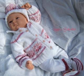 Strickanleitung für Baby's u. Reborns Modell Ole Gr. 50-56