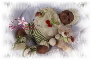 Strickanleitung für Baby's u. Reborns Modell Clara Gr. 48 - 54