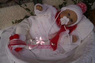 Strickanleitung für Baby's u. Reborns Modell Gitti Gr. 50 - 56 4-teilig