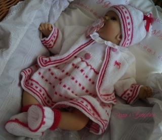 Strickanleitung für Baby's u. Reborns Modell Biene Gr. 50-56