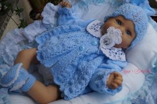 Strickanleitung für Baby's u. Reborns Modell Bärbel Gr. 50-56