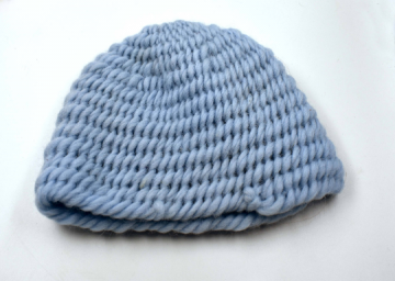 Wikinger Mütze ♥  Nadelgebundene Mütze im York Stich ♥  Kindermütze♥ / Naalbinding ♥ Nadelbinden ♥  hellblau ♥  Umfang ca. 45- 50 cm