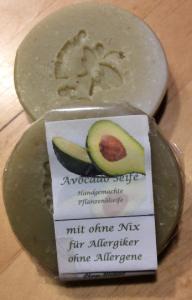 Avocado Seife (handgefertigte Pflanzenölseife) vegan, ohne Allergene, palmölfrei