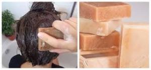 Haarseife - rote Tonerde - palmöl- und plastikfrei - vegan - für normales bis leicht fettendes Haar