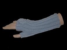 Handgemachte Armstulpen in Grau aus Schurwolle