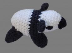 Handgemachter Panda , Amigurumi , gehäkelt , Schwarz , Weiß