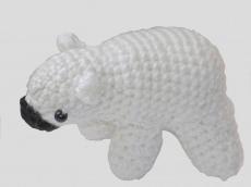 Handgemachter Eisbär in Polyacryl