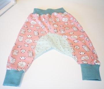 Genähte Babyhose, Pumphose Gr. 80, ÖKOTEX, Kinderhose, Jersey