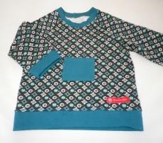 genähtes Babyshirt, Langarmshirt Gr. 80