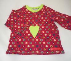 genähtes Babyshirt, Langarmshirt Gr. 80, Sweatshirt, Jersey