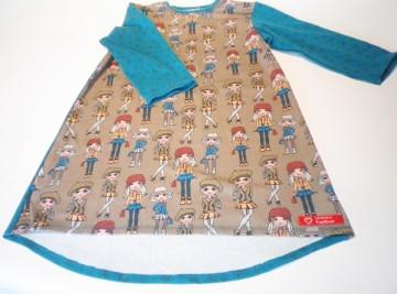 Langarmshirt, Tunika für kleine Fräuleins Gr.128 Jersey