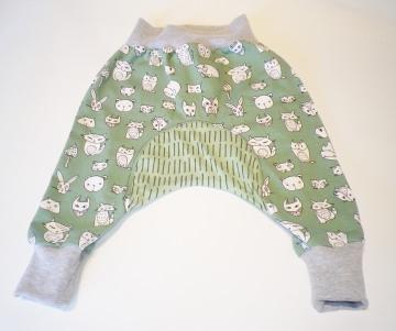 Genähte Babyhose, Pumphose Gr.80 ÖKOTEX, Kinderhose, Jersey