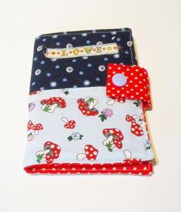 Notizbuch to Go, Notizblock, genäht, Block für die Tasche, handgemacht, Unikat, Papier, Buch, DIN A 7