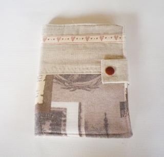 Notizbuch to Go, Notizblock, genäht, Block für die Tasche, handgemacht, Unikat, Papier, Buch, DIN A 6