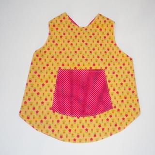 Schürze, Kleid, Wendekleid, genäht, Baumwolle, Schürzenkleid