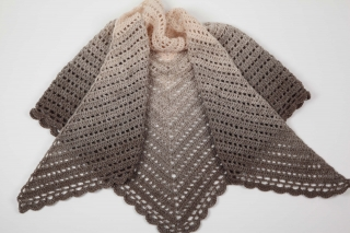 XL Dreieckstuch gehäkelt Schultertuch, Tuch, Stola leicht und wärmend