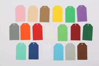 50 gestanzte Geschenkanhänger blanko - viele Farben möglich