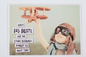 Grußkarte mit schönem Spruch, upcycled aus einem Kalender mit Lebensweisheiten - Handarbeit kaufen
