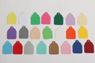 50 gestanzte Geschenkanhänger blanko - viele Farben möglich - Handarbeit kaufen