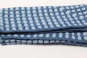 selbst gehäkelte Decke für den Kinderwagen, warm und kuschelig mit kuschelwolle für Ihr Baby  - Handarbeit kaufen