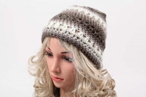 kuschelig warme Häkelmütze Mütze Wintermütze für Damen Beanie mit Degrade-Effekt  - Handarbeit kaufen