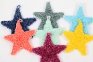 Spülschwamm als Stern gehäkelt,  originell, nachhaltig und umweltschonend, waschbar und auch als Duschschwamm super  - Handarbeit kaufen