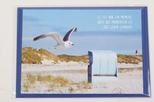 Grußkarte mit schönem Spruch, upcycled aus einem Kalender mit Lebensweisheiten - Karte - Handarbeit kaufen