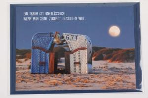 Grußkarte mit schönem Spruch, upcycled aus einem Kalender mit Lebensweisheiten - Karte Klappkarte Faltkarte - Handarbeit kaufen