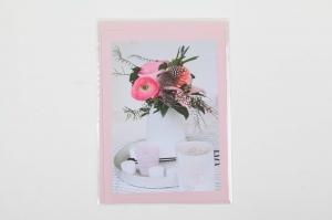 Grußkarte, upcycled aus einem Kalender  Karte mit Blumen Klappkarte Faltkarte Blumenkarte - Handarbeit kaufen