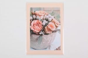 Grußkarte, upcycled aus einem Kalender  Karte mit Blumen Klappkarte Faltkarte Blumenkarte