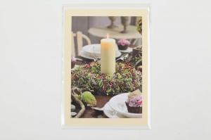 Grußkarte, upcycled aus einem Kalender  Karte mit Blumen Klappkarte Faltkarte Blumenkarte herbstliche Karte - Handarbeit kaufen