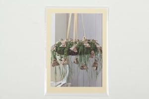 Grußkarte, upcycled aus einem Kalender  Karte mit Blumen Klappkarte Faltkarte Blumenkarte weihnachtliches Gesteck mit Adventskalender
