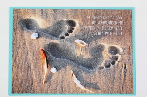 Grußkarte, upcycled aus einem Kalender  Karte mit Spruch Klappkarte Faltkarte Spruchkarte - Handarbeit kaufen