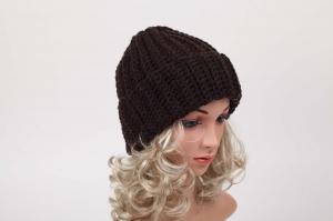 kuschelig warme Häkelmütze Mütze Wintermütze für Damen Beanie handgehäkelt (Kopie id: 100204037) - Handarbeit kaufen