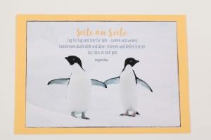 Grußkarte, upcycled aus einem Kalender  Karte Klappkarte Faltkarte Strand Spruchkarte  - Handarbeit kaufen
