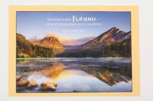 Grußkarte, upcycled aus einem Kalender  Karte Klappkarte Faltkarte Strand Spruchkarte Idyllische Landschaft - Handarbeit kaufen