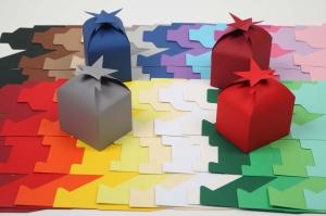 10 gestanzte Rohlinge zum Basteln von 10 Sternenboxen Schachteln Farbe frei wählbar (ungeklebt) perfekt zum basteln von Adventskalendern - Handarbeit kaufen